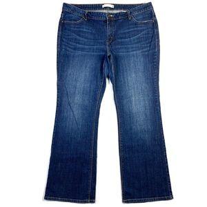 Levi's 590 Dark Wash Denim Bootcut Jean
